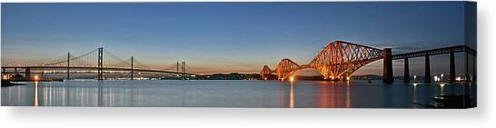 Three Forths At Dusk Canvas Print