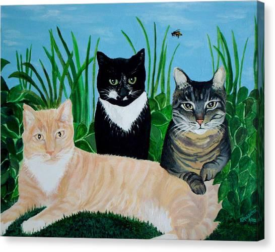 Three Furry Friends Canvas Print