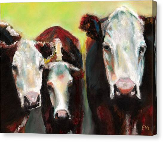 Three Generations Of Moo Canvas Print