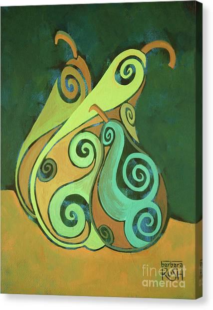 Three Groovy Little Pears Canvas Print