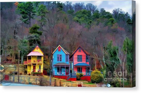 Three Houses Hot Springs Ar Canvas Print