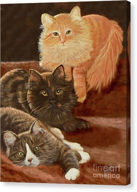 Canvas Print - Three In A Row by Marilyn Smith