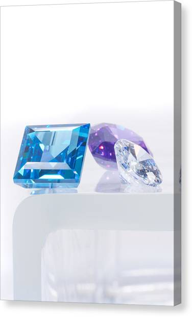 Gemstones Canvas Print - Three Jewel by Atiketta Sangasaeng