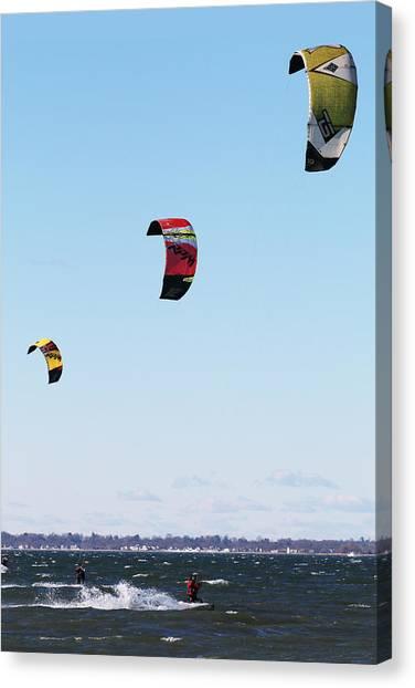 Three Kites Canvas Print