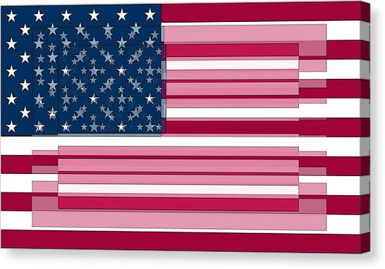 Jasper Johns Canvas Print - Three Layered Flag by David Bridburg
