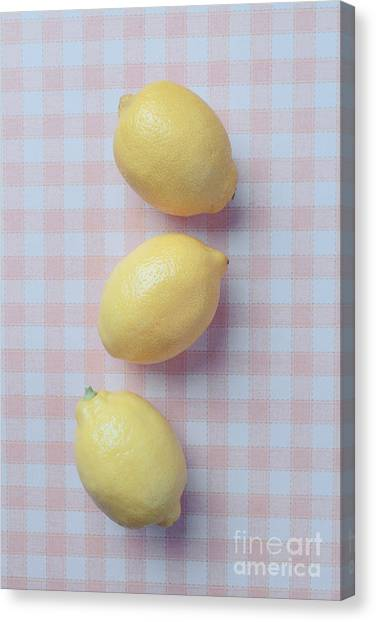 Lemons Canvas Print - Three Lemons by Edward Fielding