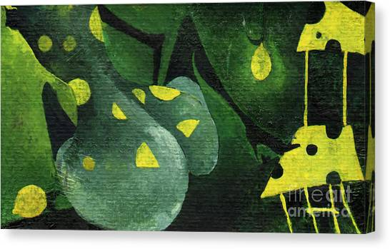 Three Lemons Canvas Print