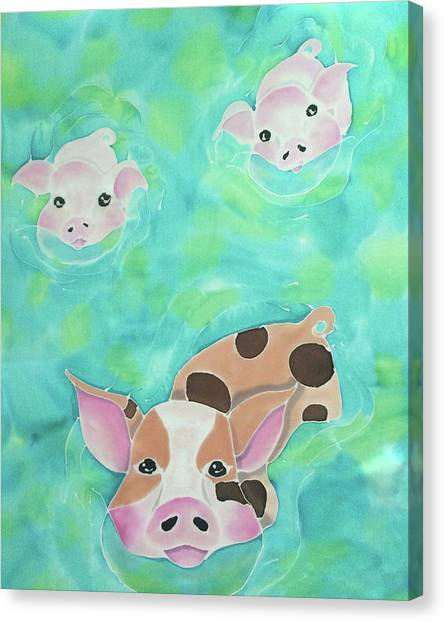 Three Little Pigs  Canvas Print