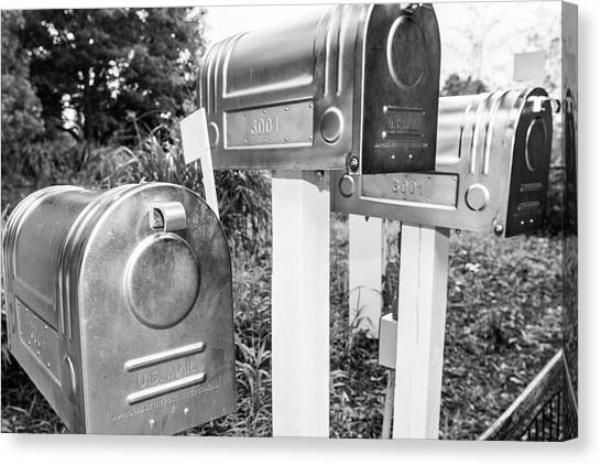 Three Mailboxes Canvas Print