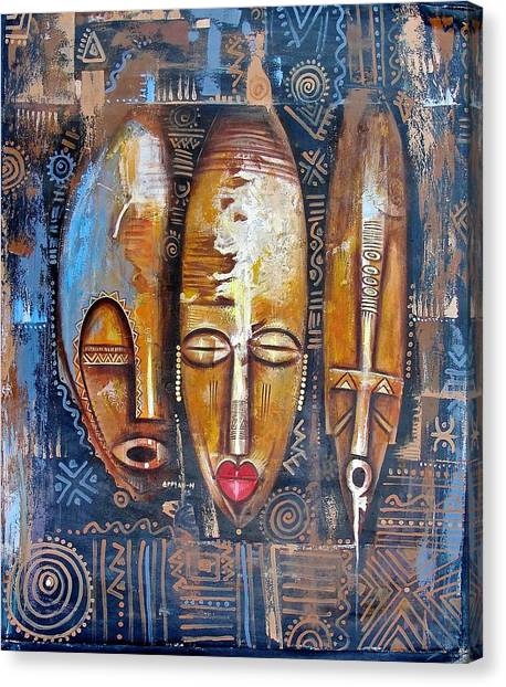 Three Masks Canvas Print