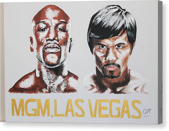 Floyd Mayweather Canvas Print - Three Masters by Connor  Thrush