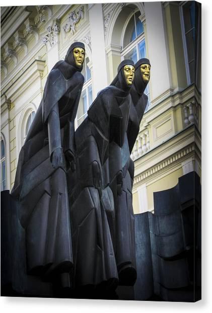 Three Muses - Calliope Thalia And Melpomene Canvas Print