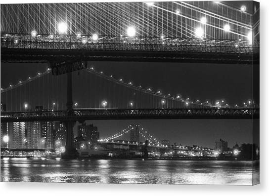 Three New York Bridges 2 Canvas Print