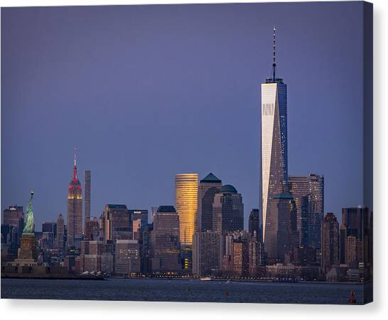 Three New York Symbols Canvas Print