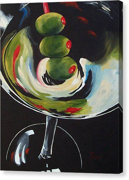 Three Olive Martini IIi  Canvas Print by Torrie Smiley