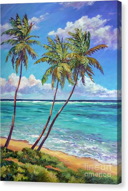 Fiji Canvas Print - Three Palms by John Clark