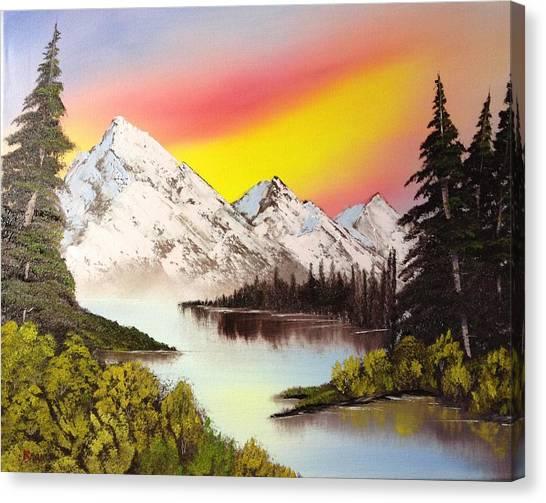 Three Peaks Canvas Print by Casey Barnes