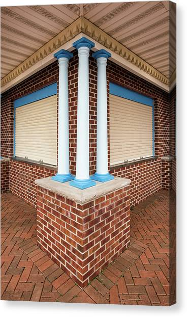 Three Pillars At The Refreshment Stand Canvas Print