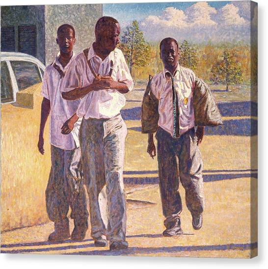 Three School Boys Canvas Print