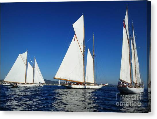 Three Schooners Canvas Print