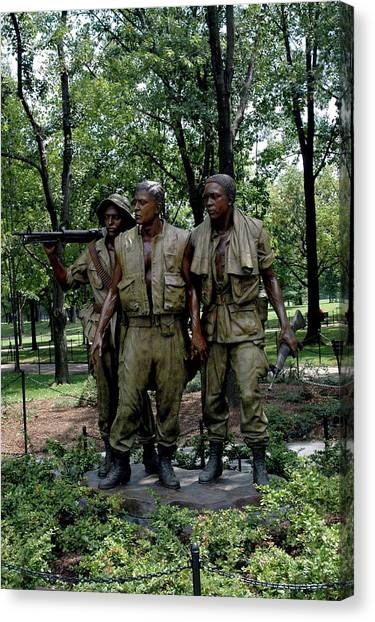 Three Servicemen Canvas Print