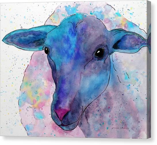Sheep Canvas Print - Three Sheep,  3 Of 3 by Moon Stumpp