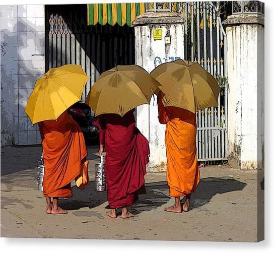 Three Umbrellas Canvas Print