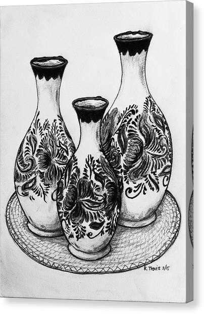 Canvas Print - Three Vases by Rich Travis