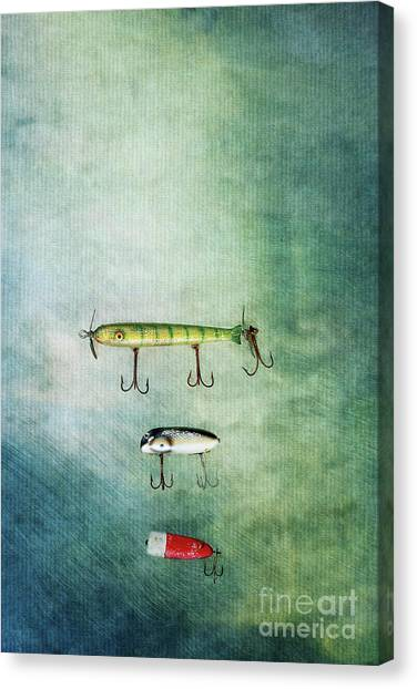 Three Vintage Fishing Lures Canvas Print