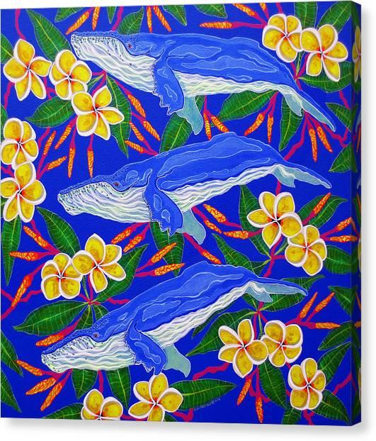 Three Whales  Canvas Print