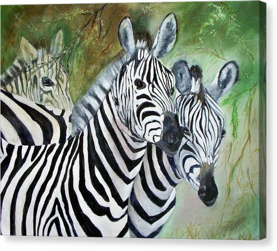 Three Z Puzzle Canvas Print by Lynda McDonald