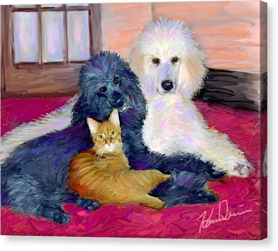 Three's Company Canvas Print by Karen Derrico