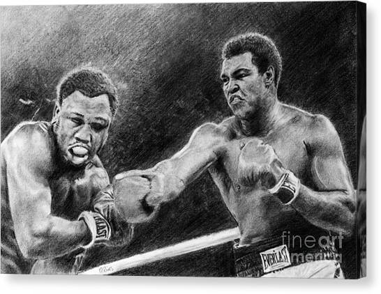 Thrilla In Manilla Pencil Drawing Canvas Print