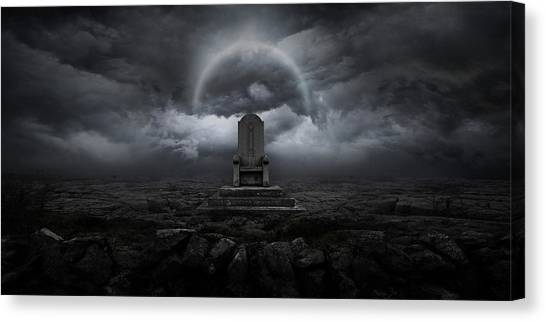 Planet Canvas Print - Throne by Zoltan Toth