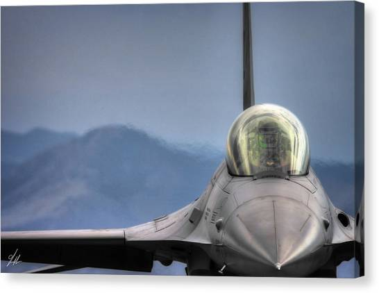 F16 Canvas Print - Throttle Up by Brandon Griffin