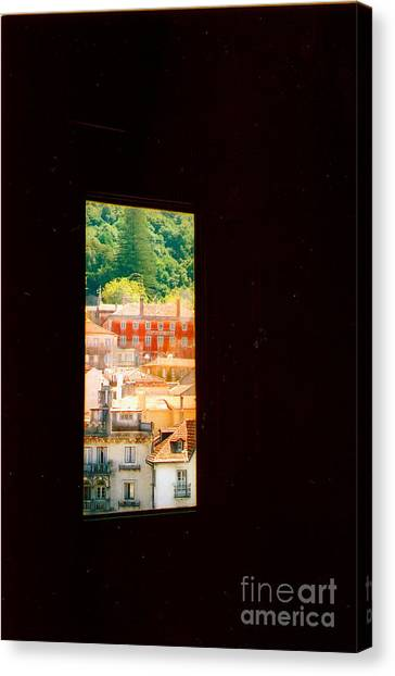 Through A Window Darkly Canvas Print by Andrea Simon