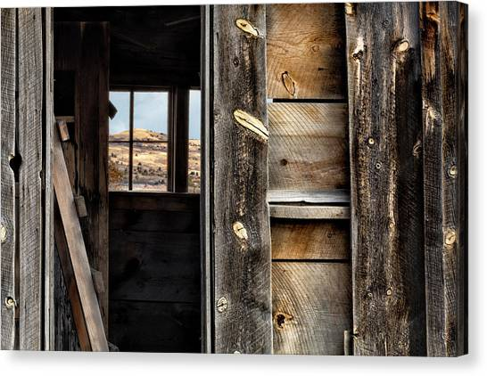 Canvas Print featuring the photograph Through Cabin Window by Denise Bush