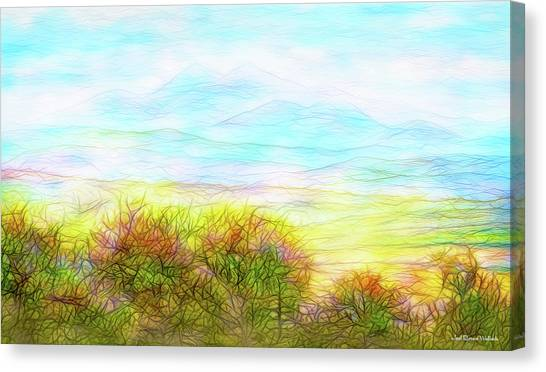 Through Mountain Mists Canvas Print