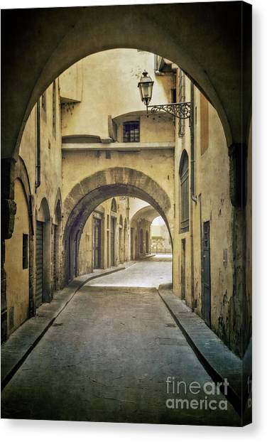 Florence Canvas Print - Through The Arches by Evelina Kremsdorf