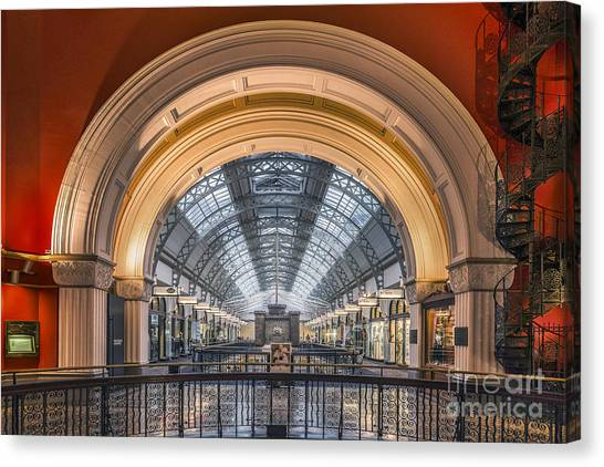 Mall Canvas Print - Through The Archway by Evelina Kremsdorf