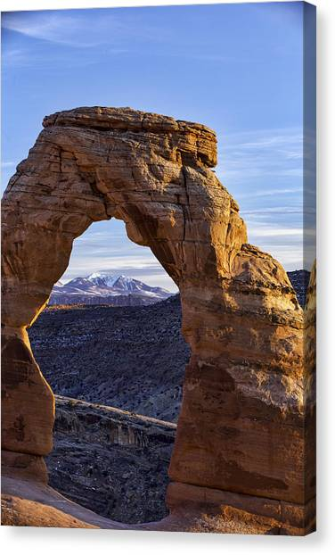 Through The Delicate Arch Canvas Print
