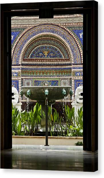 J Paul Getty Canvas Print - Through The Door  by Teresa Mucha