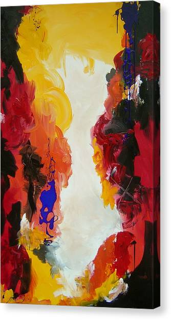 Through The Flame Canvas Print by Nicole Lee