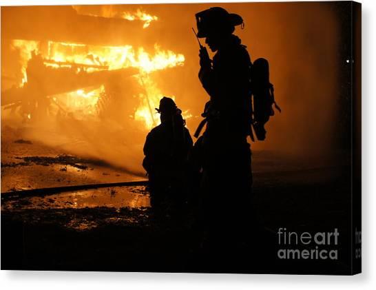 Through The Flames Canvas Print