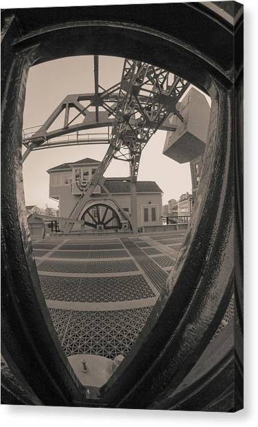 Through The Gear In Mystic Ct Canvas Print