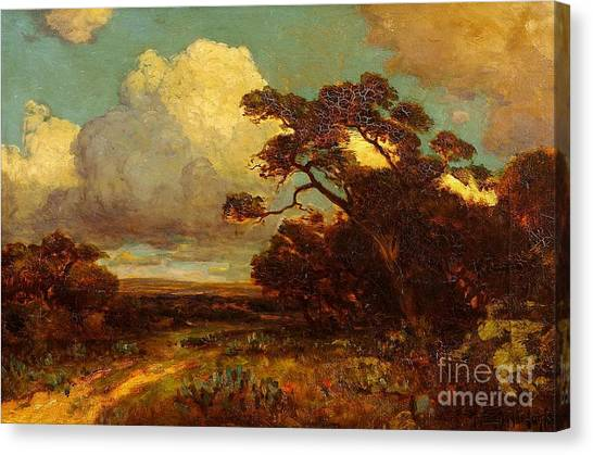 Through The Hills In Southwest Texas 1911 Without Border Canvas Print