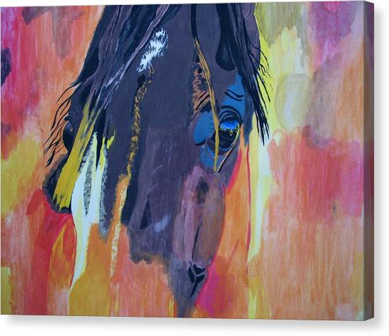 Through The Horse's Eyes Canvas Print