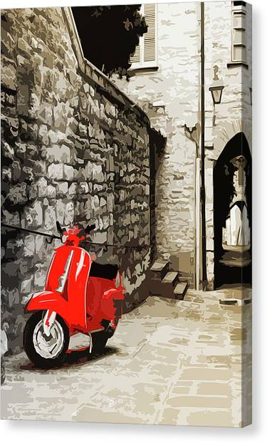 Through The Streets Of Italy - 01 Canvas Print by Andrea Mazzocchetti