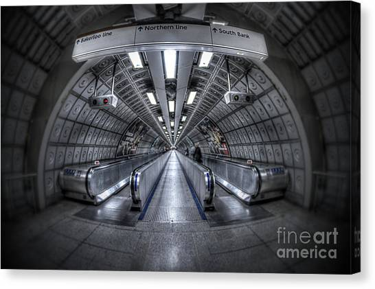 Connect Canvas Print - Through The Tunnel by Evelina Kremsdorf