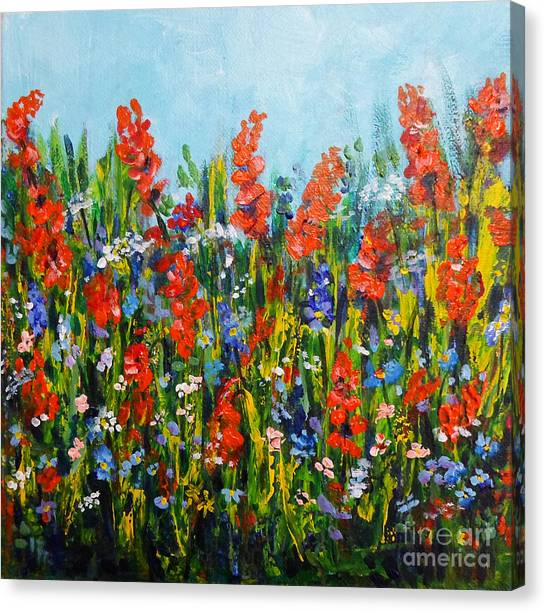 Through The Wild Flowers Canvas Print